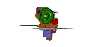 Upgraded X-carriage and extruder V1 (Complete layout)